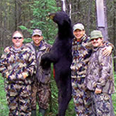 Image of successful hunters at Water Shed Bear Outfitters